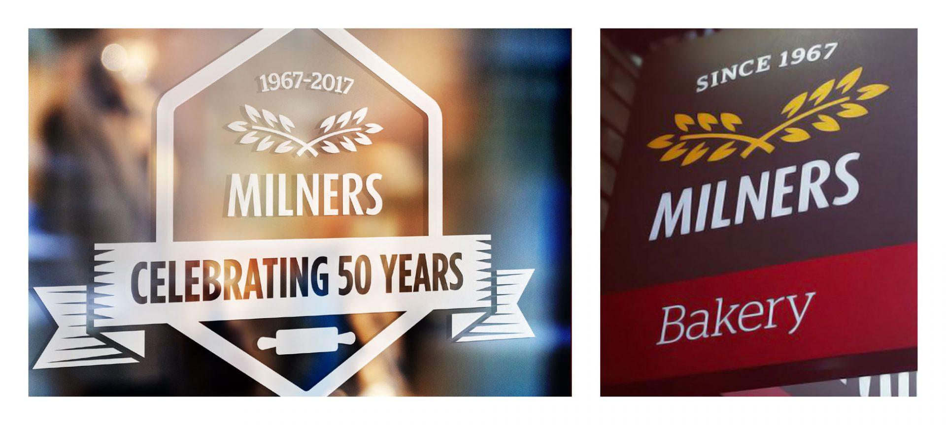 Milners Signage